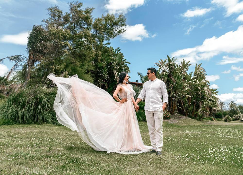 свадебная фотосессия в роскошных локациях в Италии