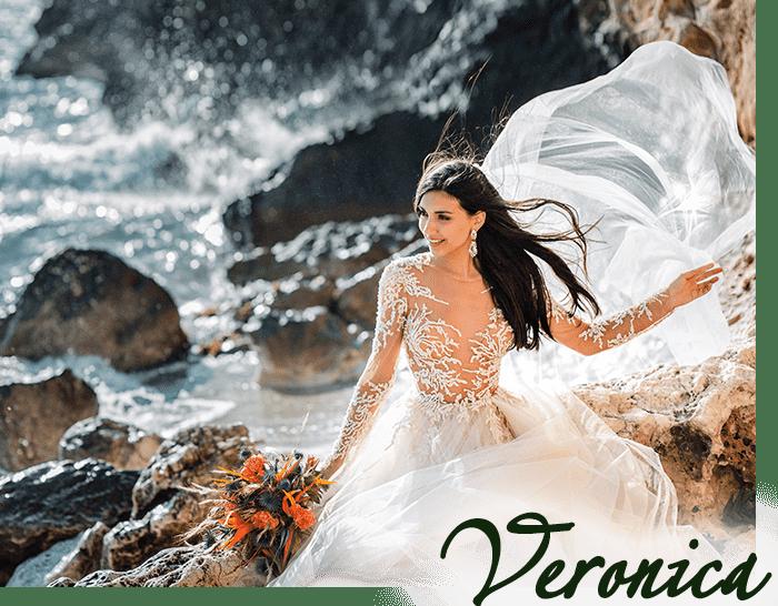 невеста на берегу моря на острове Сардиния