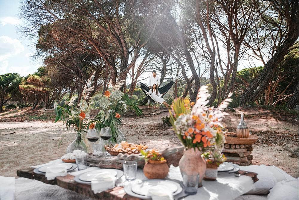 организация романтических пикников или ужинов на пляжах острова Сардиния