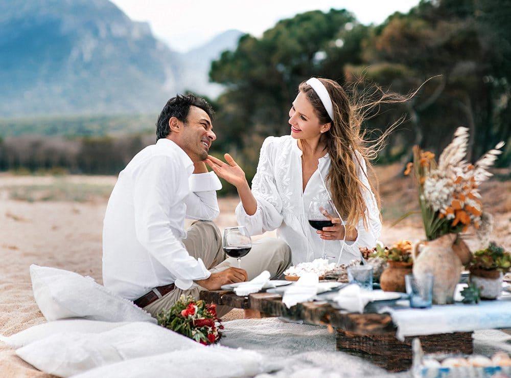 организация романтических пикников - фотосессий на Сардинии