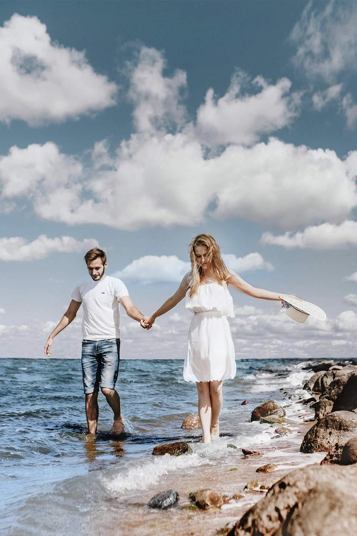 Love story на берегу моря в Италии