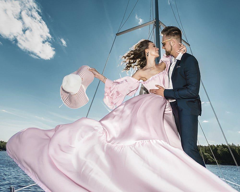 Романтическая фотосессия на яхте
