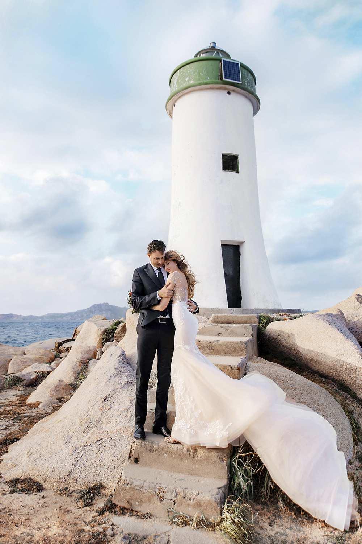 Свадьба для двоих у маяка в Италии