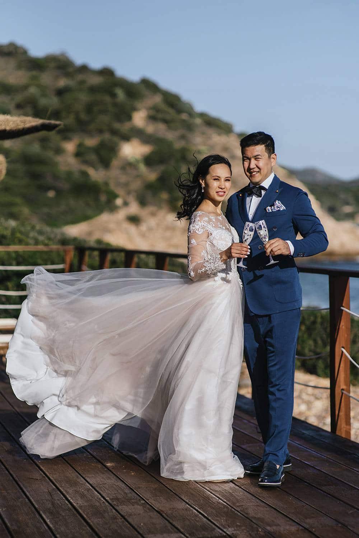 свадьба в европе на берегу моря