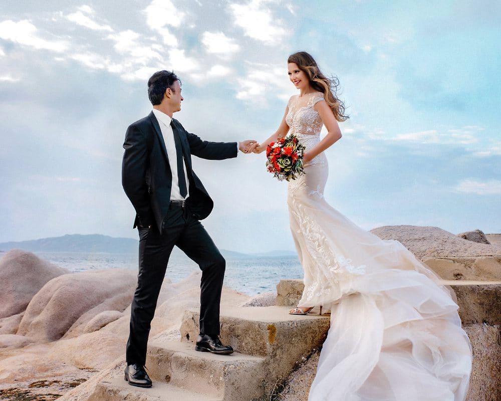 Свадебная церемония на пляжах севера Сардинии