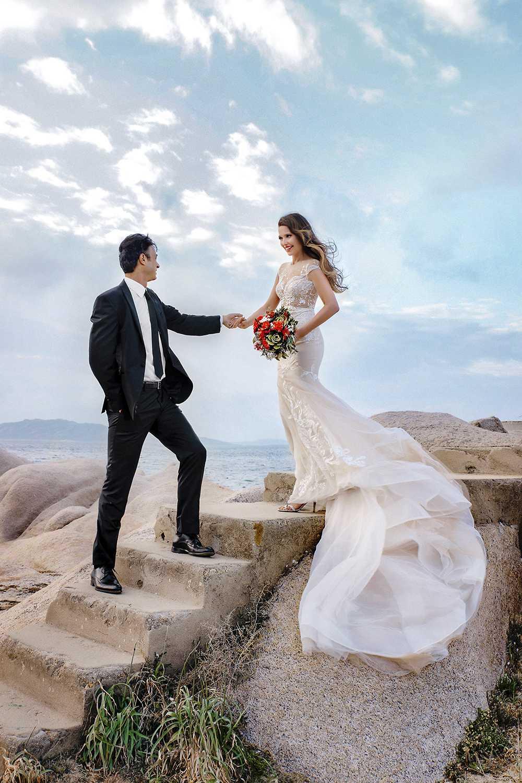 Свадебная фотосессия в Италии, на острове Сардиния