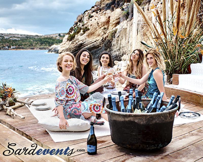 организация праздников, презентаций и вечеринок на пляже в Италии, на Сардинии