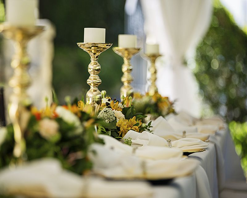 сервировка свадебного банкета