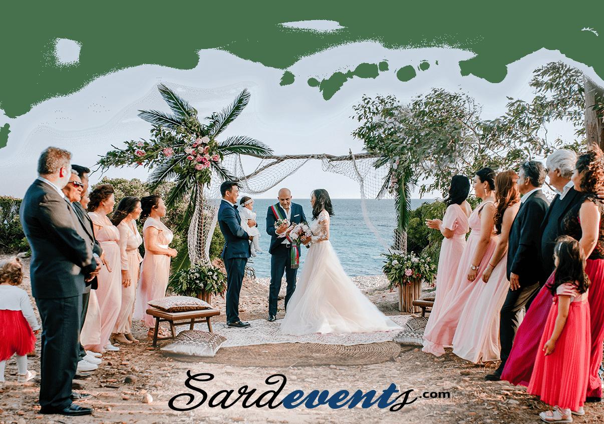 Официальная свадьба на Сардинии в Италии