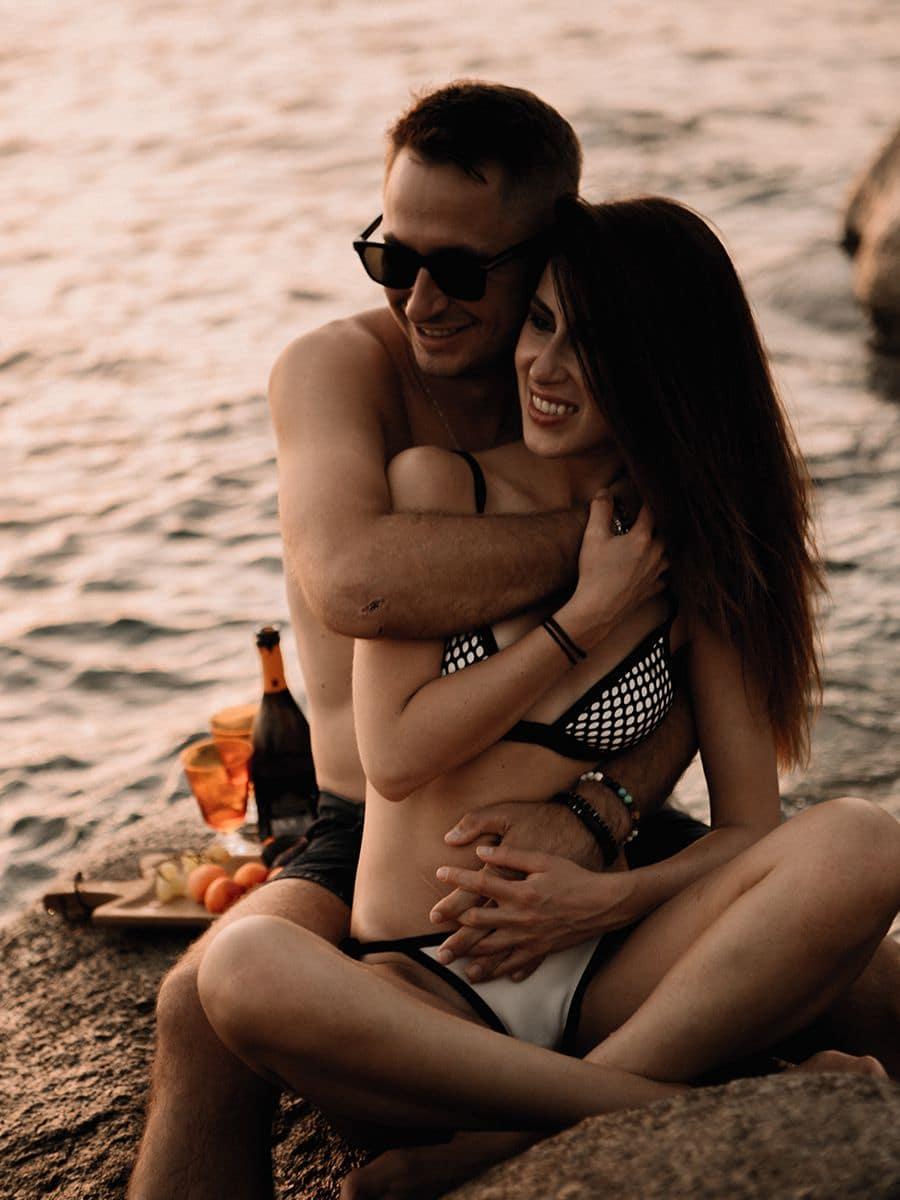 интимная фотосессия на пляже Сардинии