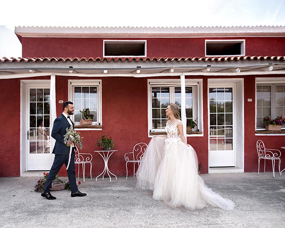 утро жениха и невесты в уникальном отеле на Сардинии