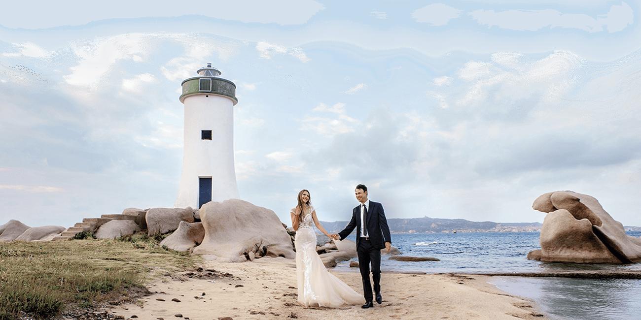 Свадьба у маяка в Италии