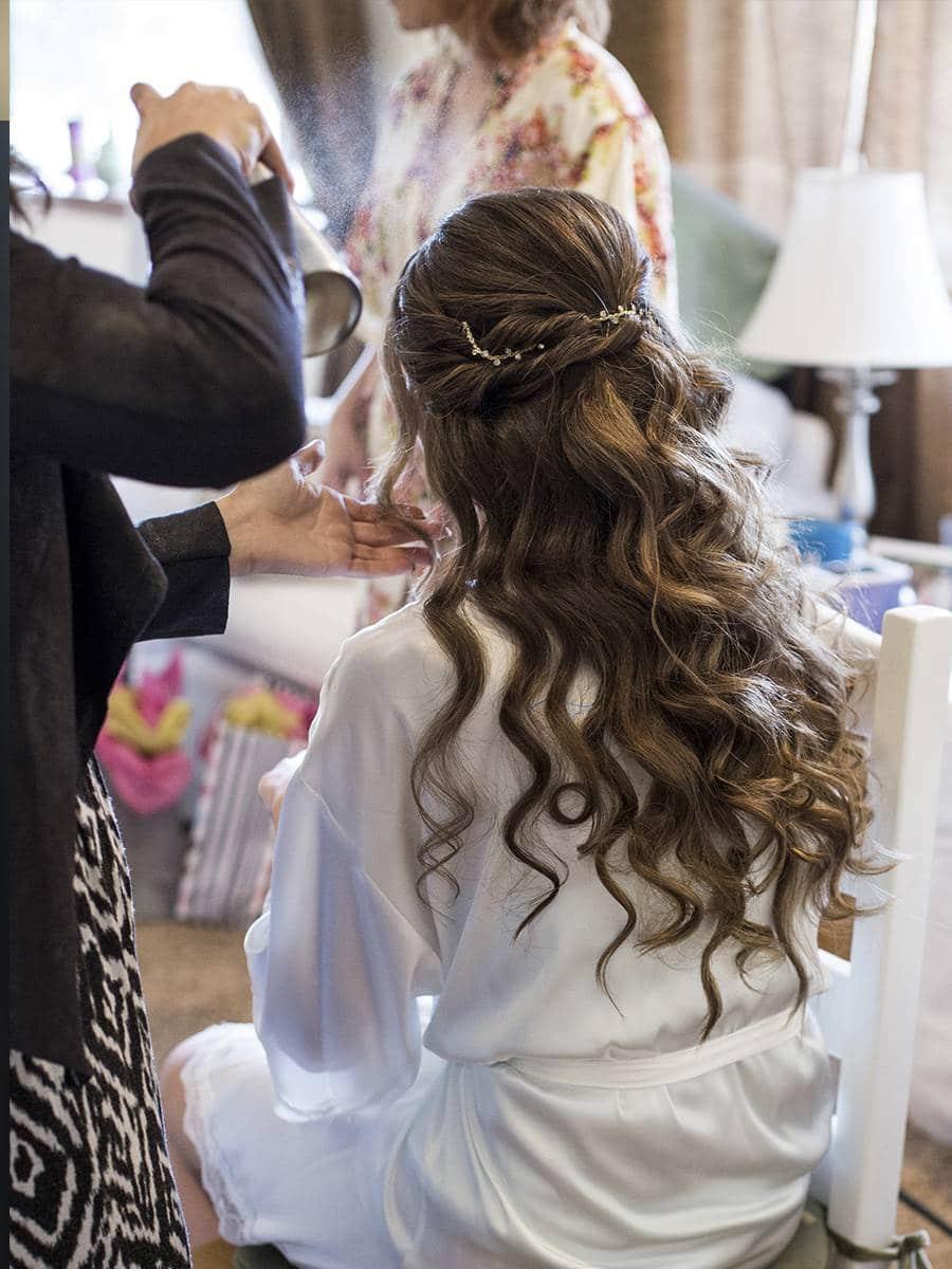 Свадебная укладка волос