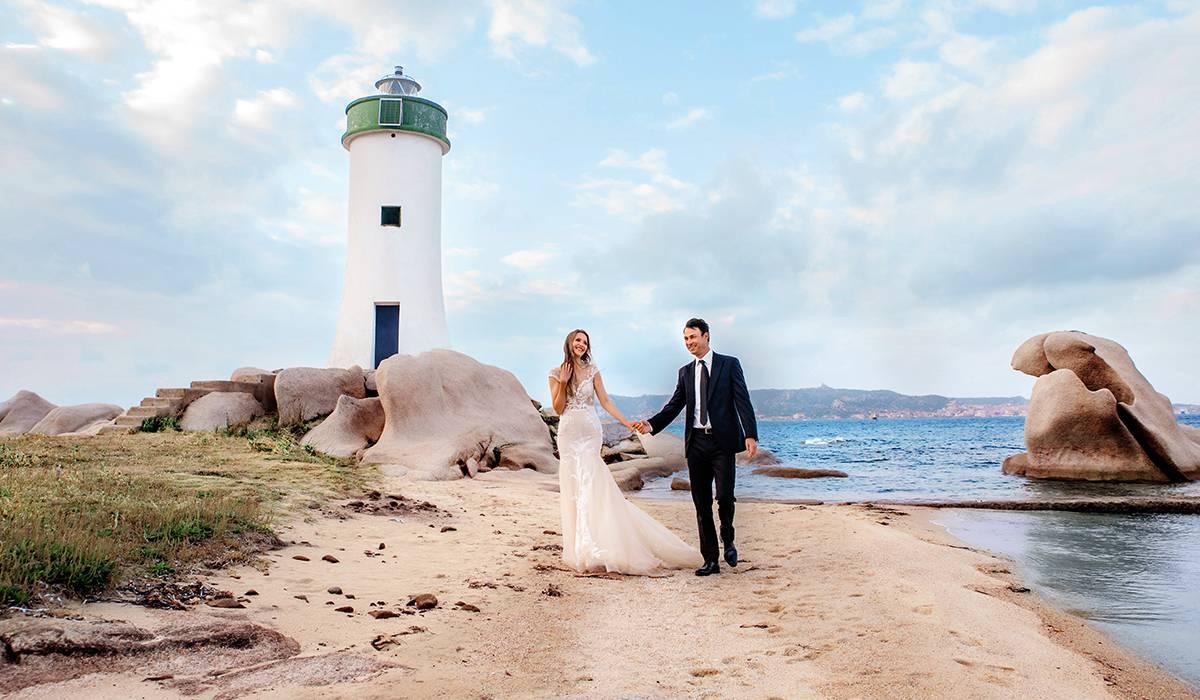 свадьба в Италии на остраове у маяка