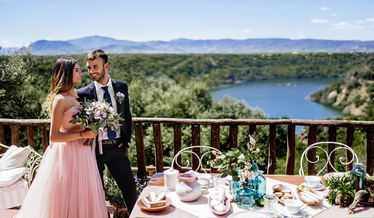 Красивая свадьба в Италии на берегу озера