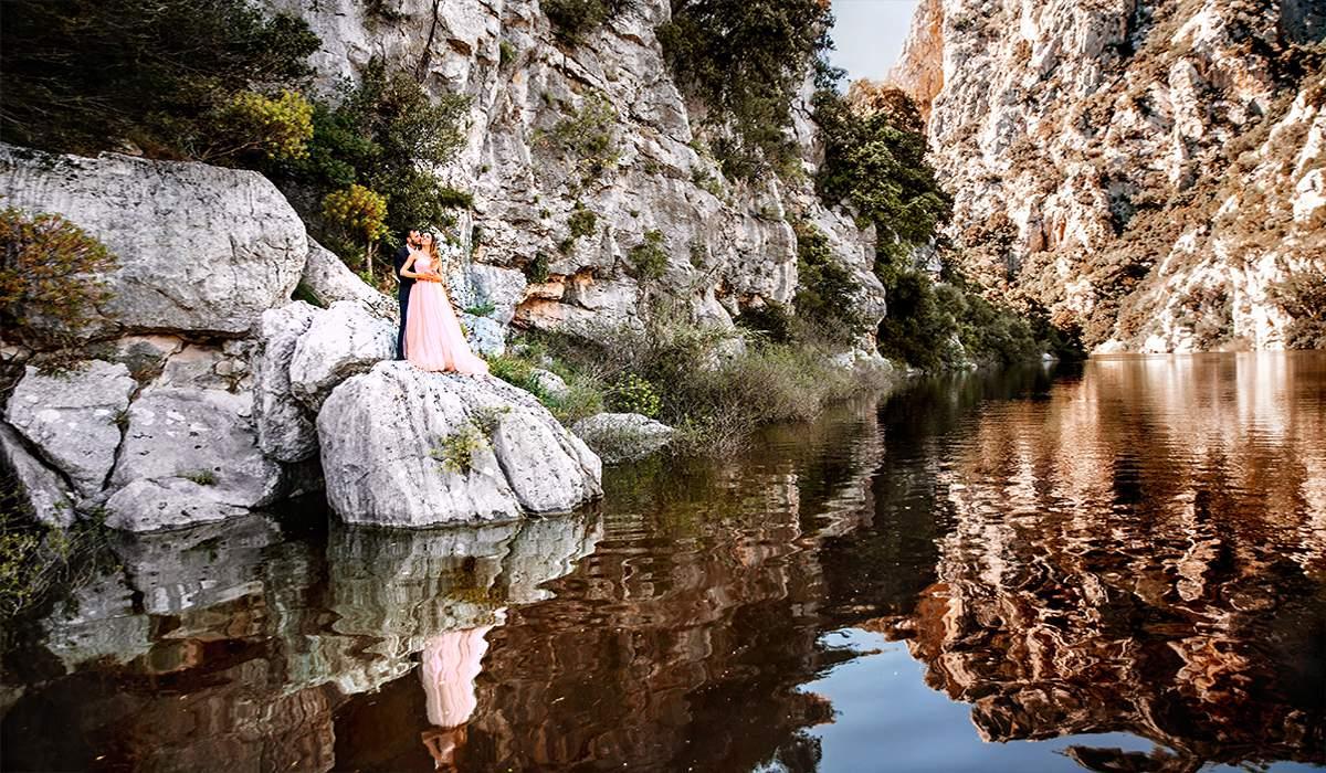 Свадебная фотосессия на озере в \Италии