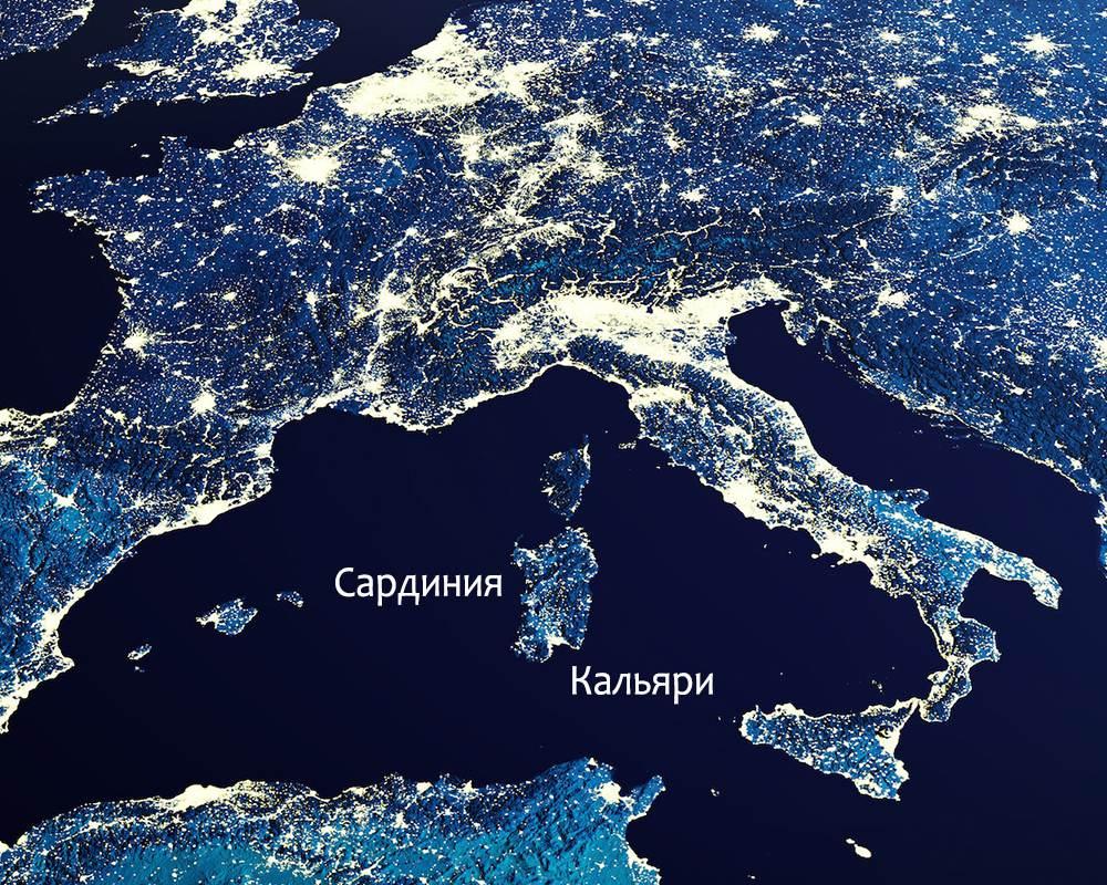 Сардиния в Италии в Европе